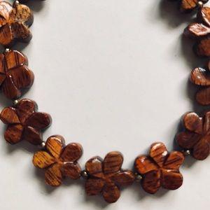 Jewelry - Flowered Koa Wood Bracelet from Hawaii